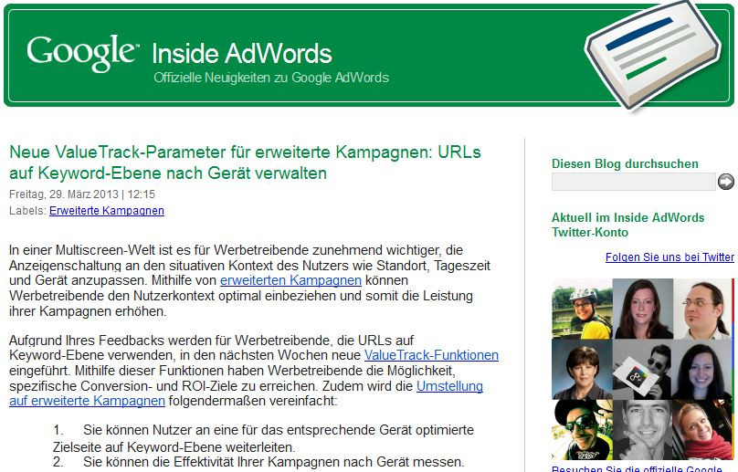Adwords Blog 1 Screenshot