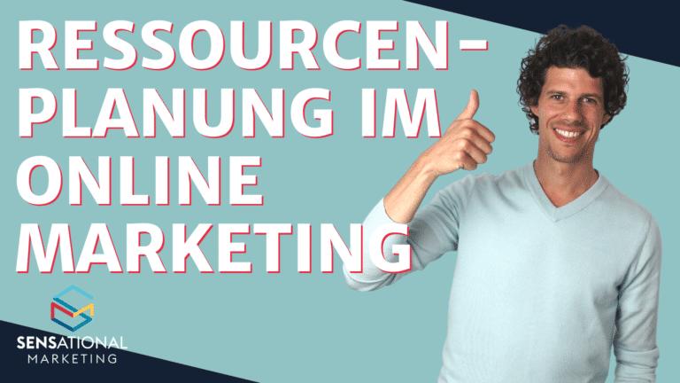Ressourcenplanung online-marketing